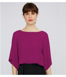 Sheer silk layered top